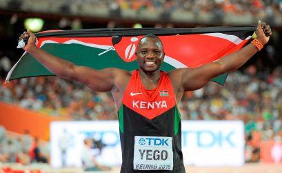 Julius Yego, the 2015 world Javelin Throw champion to compete at the Athletix Grand Prix. Photo Credit: Roger Sedres