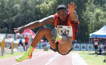 World long Jump bronze medallist, Ruswahl Samaai, will compete at the Athletix Grand Prix. Photo Credit: Roger Sedres