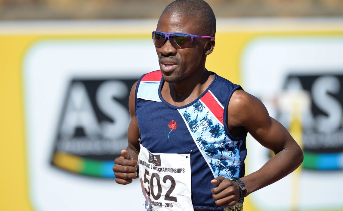 Multiple SA record holder Stephen Mokoka has been named in the 10-member national team. Photo Credit: ASA/Roger Sedres