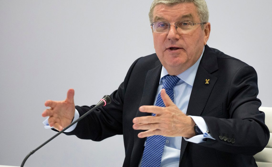 IOC President Thomas Bach during the final day of the Executive Board Meeting at the IBC in Pyeongchang / Photo by Greg Martin/IOC