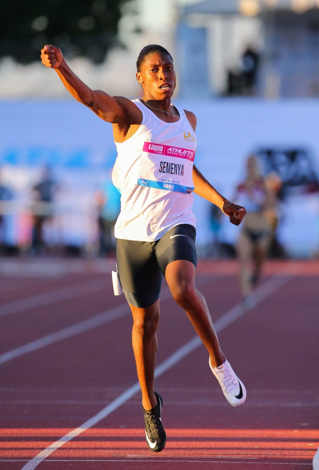 Caster Semenya in action at the Dal Josaphat Stadium in Paarl. Photo Credit: Roger Sedres
