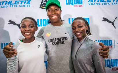 Halimah Nakaayi, Caster Semenya and Winnie Nanyondo. Photo Credit: Tobias Ginsberg
