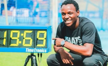 20 year-old Clarence Munyai who set a new South African national record with the second fastest time in the continent. Credit: BackTrack/ASA