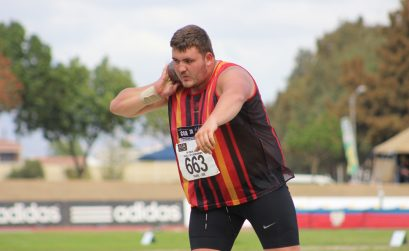 Central Gauteng Athletics Kayle Blignaut wins gold in the boys' under-20 shot put event. Photo credit: BackTrack/ASA