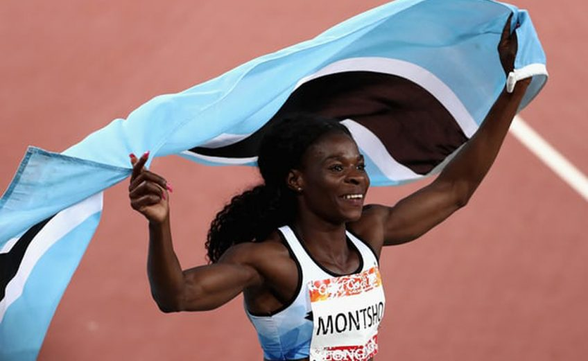 Amantle Montsho after winning the women's 400m gold in the Gold Coast / Credit: Getty