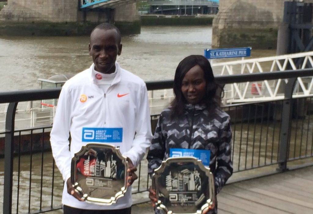 Kenya's Eliud Kipchoge and Mary Keitany were crowned Abbott World Marathon Majors Series XI champions / Photo: Organisers