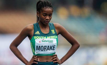 Gontse Morake on the start-line at the IAAF World U-18 Championships in Nairobi 2017.