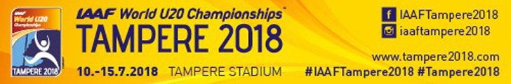 The 2018 World U20 Championships in Athletics for athletes qualifying as juniors will take place at Ratina Stadium in Tampere, Finland from 10-15 July 2018.