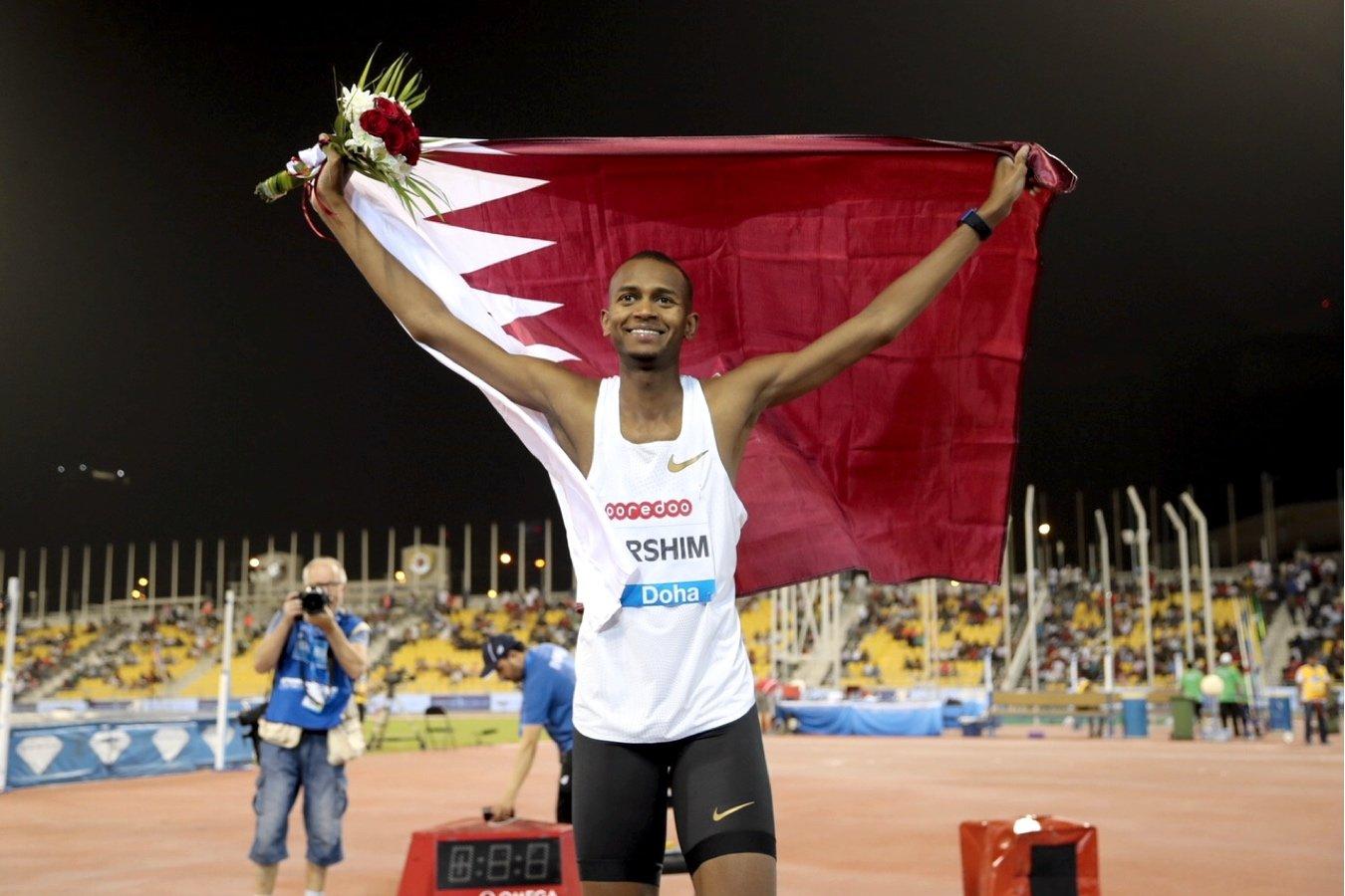 Mutaz Barshim (QAT) at the Doha 2018 IAAF Diamond League meeting © Hasse Sjögren