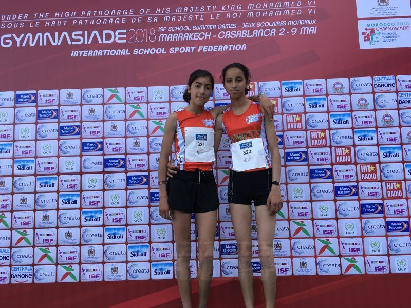 Meryem Azrour led a Moroccan 1-2 to the Girls 3000m podium, winning the final in 9:43.17 ahead of her compatriot Lamiae Himi, who took the silver in 9:43.31 at Gymnasiade 2018 / Photo Credit: Yomi Omogbeja