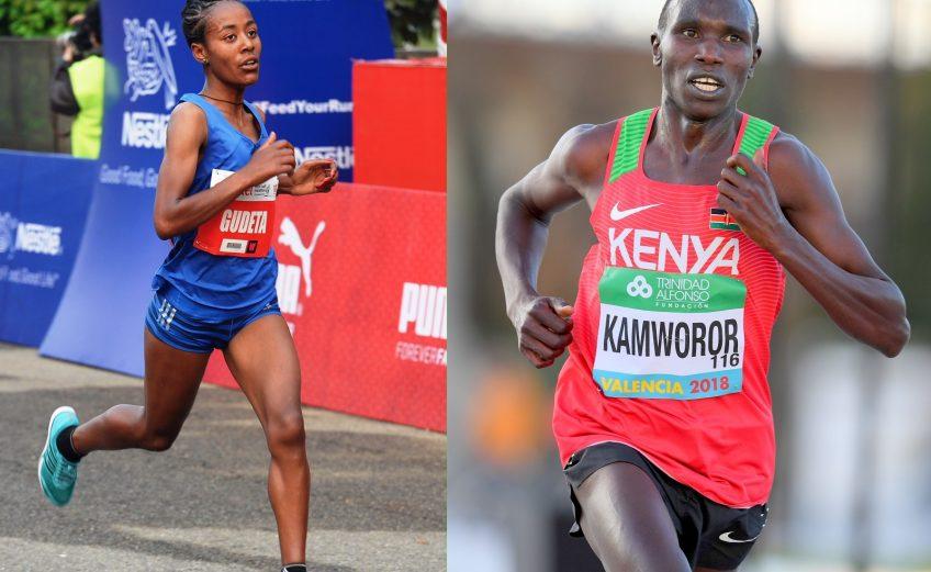 Kenya's Geoffrey Kamworor and Ethiopia's Netsanet Gudeta to head the men's and women's elite fields at the TCS World 10K Bengaluru 2018 on Sunday 27 May / Photo Credit: Organisers