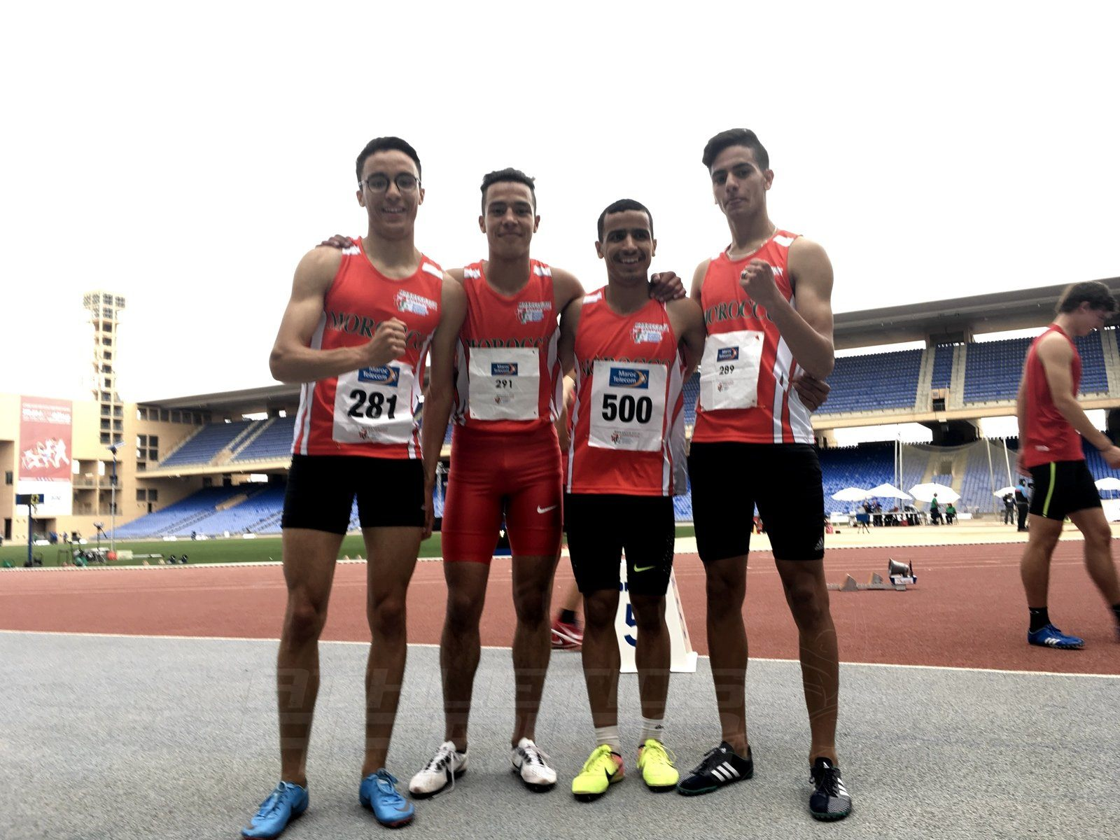 Morocco's Boys 200mx400mx600mx800m relay team after winning gold at Gymnasiade 2018 / Photo Credit: Yomi Omogbeja