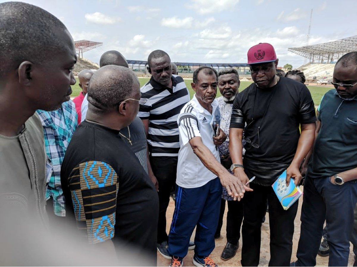 Vivian Gungaram led the Confederation of African Athletics (CAA) inspection team visit Asaba, Nigeria host venue of the 2018 African Senior Athletics Championships / Photo: LOC