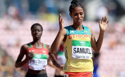 Alemaz Samuel Teshale of Ethiopia wins the women's 1500m gold at the IAAF World U20 Championships Tampere 2018 / Photo Credit: Getty Images for IAAF