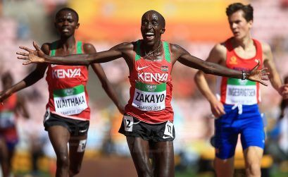 Edward Zakayo of Kenya wins the 5000m at the IAAF World U20 Championships Tampere 2018 / Photo Credit: Getty Images for IAAF