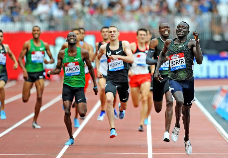 Korir storms to World leading 800m time in London