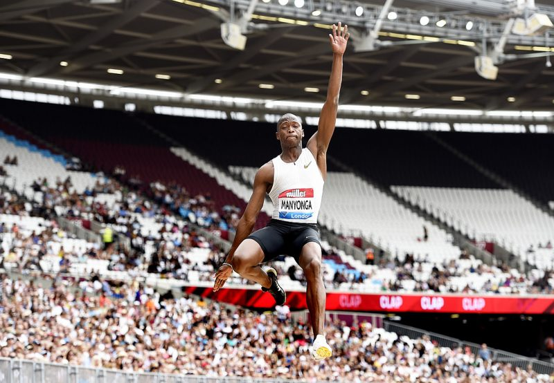 Manyonga soars to 8.58m, Shange breaks SA record in London