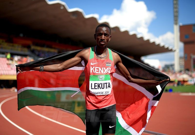 Solomon Lekuta takes the men's 800m gold for Kenya at the IAAF World U20 Championships Tampere 2018 / Photo Credit: Getty Images for IAAF