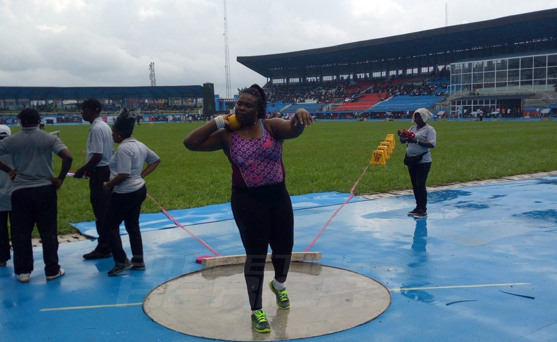 Eucharia Ogbukwo won the women's Shot Put in 14.49 metres. / Photo credit: Naomi Peters for Athletics Africa