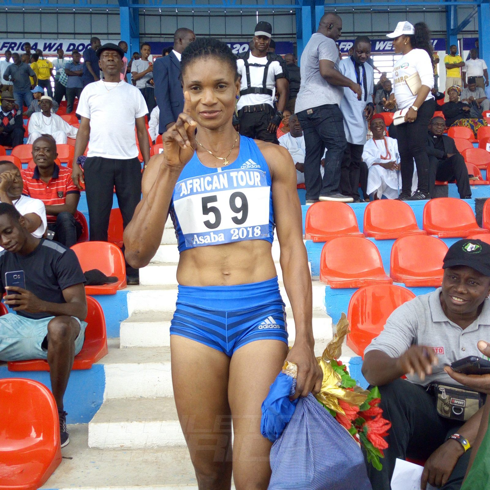 Patience Okon-George won the women's 400m 51.49 secs. Abike Egbeniyi was 2nd in 52.48 and Rita Ossai 3rd in 54.95. / Photo credit: Naomi Peters for Athletics Africa
