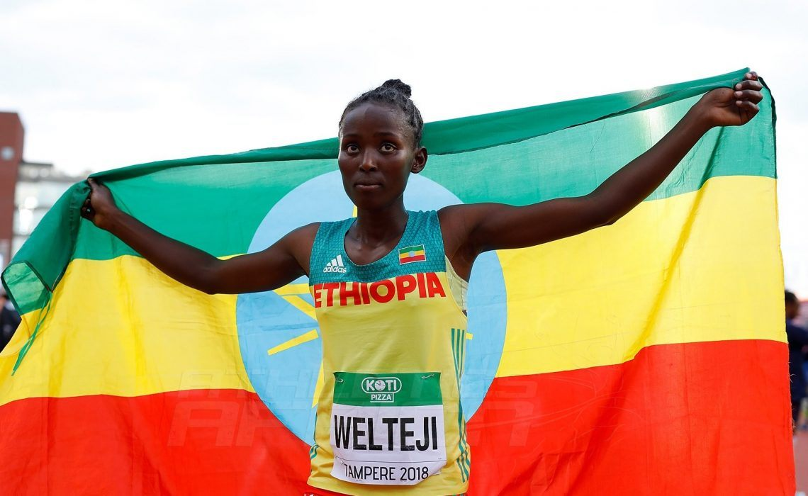 Diribe Welteji (Ethiopia) in the Women's 800m at the IAAF World U20 Championships Tampere 2018 / Photo credit: Getty Images for IAAF