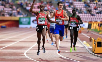 Kenya's George Manangoi wins the Men's 1500m at the IAAF World U20 Championships Tampere 2018 / Photo Credit: Getty Images for IAAF