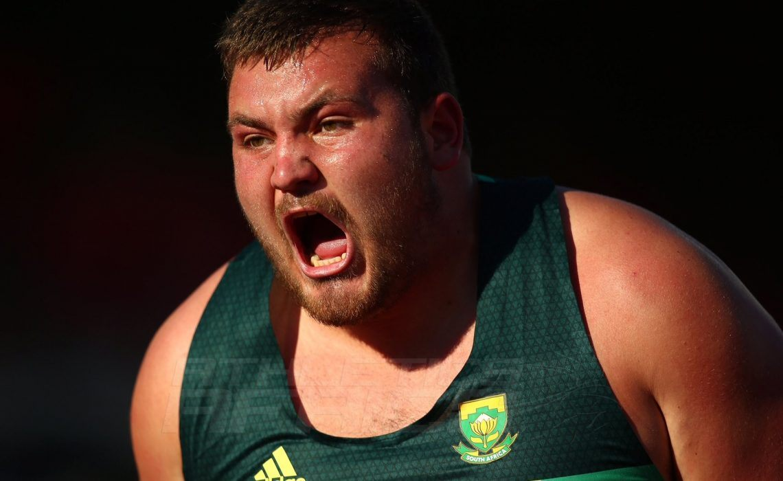 RSA's Kayle Blignaut wins men's Shot put final at the IAAF World U20 Championships in Tampere, Finland / Photo Credit: Getty Images for IAAF.