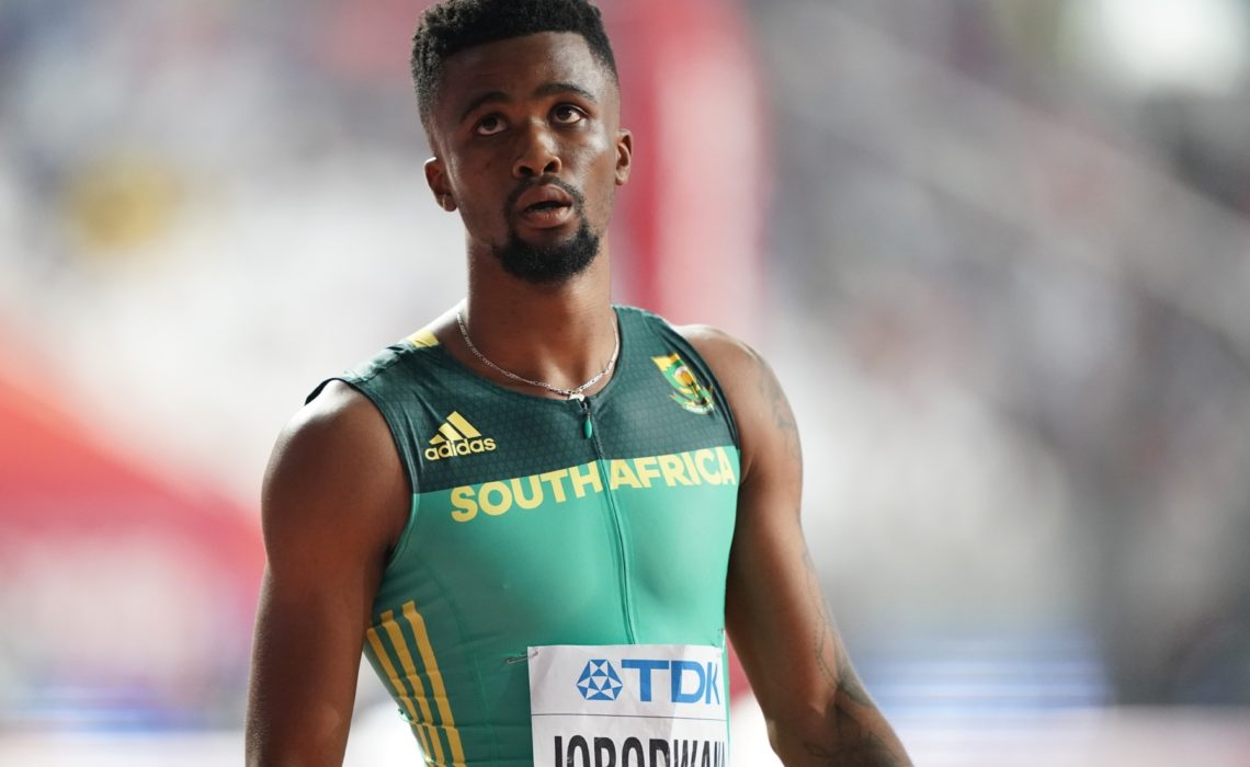 South Africa's Anaso Jobodwana during the men's 200m in Doha / Photo credit: Getty Images for IAAF