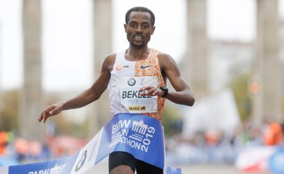Kenenisa Bekele wins at the Berlin-Marathon 2019 / credit: SCC EVENTS / Norbert Wilhelmi