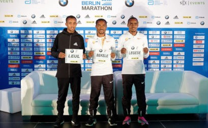 Top elite men runners for the 46th edition of the BMW BERLIN MARATHON in 2019 / Photo credit: SCC EVENTS / Petko Beier