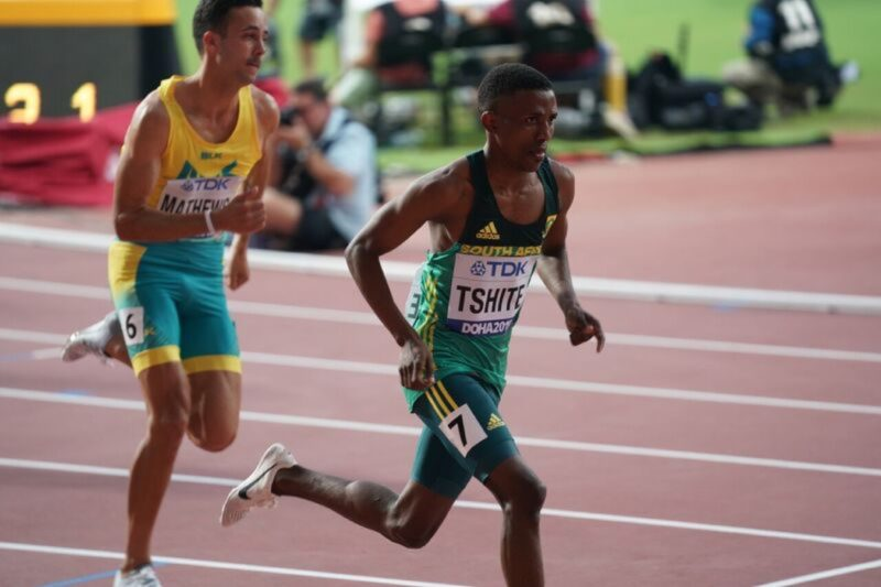 Tshepo Tshite in men's 800m in Doha / Photo credit: Getty Images for IAAF