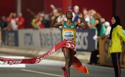 Lelisa Desisa wins men's Marathon in Doha 2019