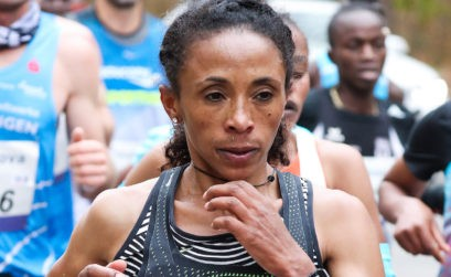 Ethiopia's Meskerem Assefa at the Mainova Frankurt Marathon / Photo credit: photorun.net