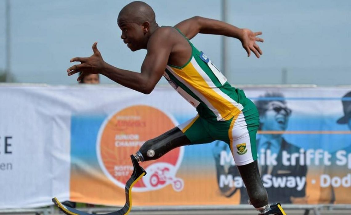 South Africa's Ntando Mahlangu confident of putting up a good show in Dubai. ⒸLuc Percival | For World Para Athletics